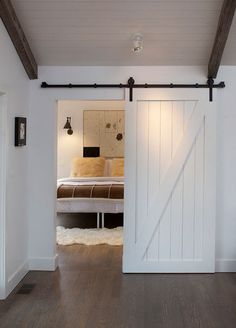 LOVE this barn bedroom sliding door!