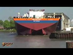 Awesome big ship launches - YouTube