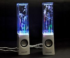 Replicate the feeling of being in a mini concert with the multicolored light show speakers. See it at http://checkfancytech.com/dancing-speakers/