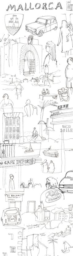 Holiday #sketchbook doodles #mallorca
