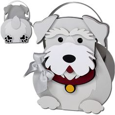 JMRush Designs: Schnauzer Dog Basket