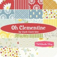 Oh Clementine Charm PackCluck Cluck Sew for Windham Fabrics Cluck Cluck Sew, Windham Fabrics, Fat Quarter Shop, Charm Pack, September 2014, Quilt Patterns, Sewing Projects, Jelly Rolls, Crafty