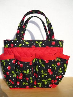 Cherry small bingo bag great for craft and par sewtrendyrose,  15,00.  Reminds b60331d035