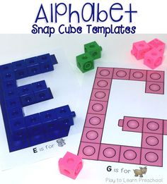 Add these alphabet cards to the block center to make letters with Unifix cubes.
