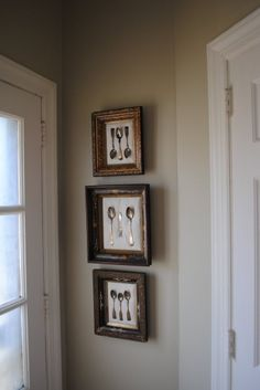 Another idea for our dining room... framed antique silverware!