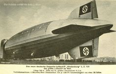 The Hindenburg (LZ-129) being walked out of her hangar at Friedrichshafen in 1936.  From a collection of reproduction postcards.