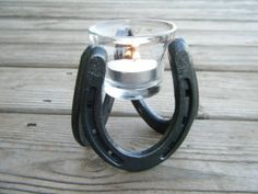 Horseshoe Candle Holder great for tealight or votive by ironoflife, $15.00