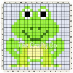 FROG 25 X 25 Center square for a c2c Baby blanket