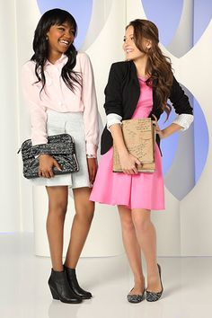 Kelli Berglund and China Anne McClain China Mclain, China Anne Mcclain, Kelli Berglund, Childhood Tv Shows, Girl Fashion, Fashion Outfits, Disney Stars, Teen Vogue, Fall Winter Outfits