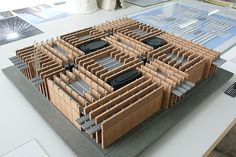 Model : Swiss Sound Box : temporary pavilion for Expo 2000, Hanover Germany | Peter Zumthor
