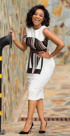 Serwaa Amihere office dress Latest African Fashion Dresses, African Dresses For Women, African Print Fashion, African Attire, Women's Fashion Dresses, African Prints, African Women, Nigerian Fashion, African Fashion Ankara