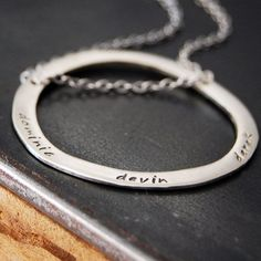 Circle of My Life Necklace - Mother's Day Necklace- Custom Lower Case Names or Words