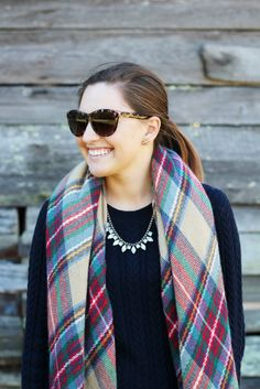 How to Style a Blanket Scarf    Winsome and Gold (www.winsomeandgold.com)