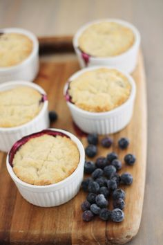 mini blueberry peach pies.