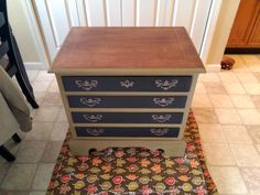 Olive You Chest of Drawers Makeover by Bella Nouveau Furniture Creations - Featured on Furniture Flippin'