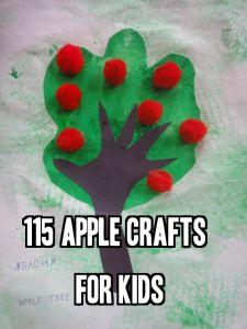 115 Apple Crafts for Kiddos:)