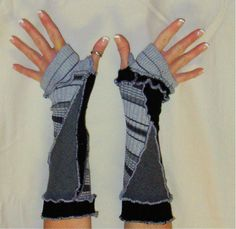 Upcycled Arm Warmers from Sweaters  #upcycledclothing #alteredcouture