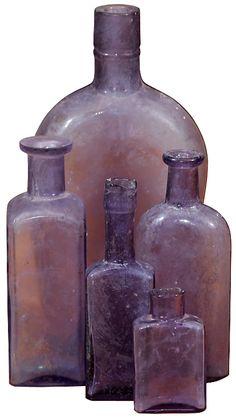 Lavender bottles