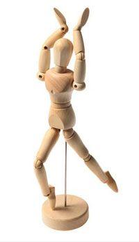 Mannequins articule en bois
