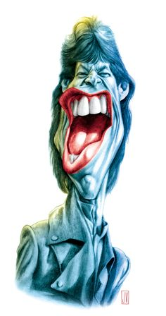 Mick Jagger Caricature by JV