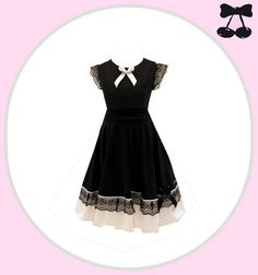 "Lace Dress "" Lolita "" Black Cherrys Store"