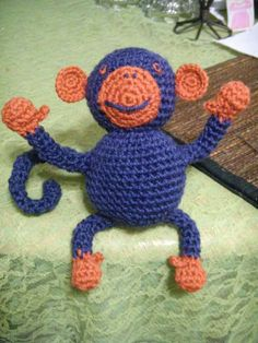Crocheted monkeys. My mom used to make them for me all the time. I had a whole monkey family! :)