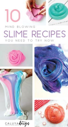 How to make slime stretchy again craft concoctions pinterest 10 mind blowing slime recipes ccuart Choice Image