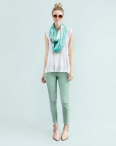 shades of green. so ready for spring!