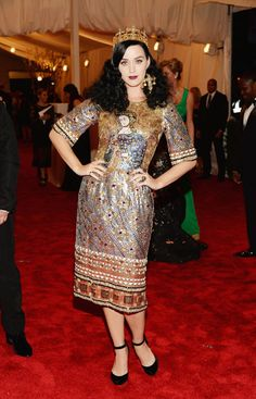Katy Perry in Dolce & Gabbana at Met Gala