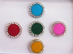Indian Round color Bindis In One Pack Stud With by Beauteshoppe
