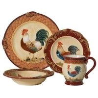 tuscan dinnerware | Discontinued Certified International Tuscan Rooster Collection by .  sc 1 st  Pinterest & this would match the pots and pans well. | I WANT! (not always for ...