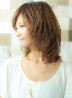 【ミディアム】大人女子が高支持!ヌーディピュアミディ/MINX harajukuの髪型・ヘアスタイル・ヘアカタログ|2015秋冬