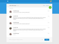 Dribbble - Material Design Chat by Serge Khmelovskyi