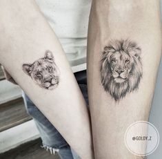 mini tattoos with meaning . mini tattoos for girls with meaning . mini tattoos for women Lion And Lioness Tattoo, Lion Head Tattoos, Leo Tattoos, Body Art Tattoos, Sleeve Tattoos, Tattos, Lion Tattoo King, Lioness Tattoo Design, Tattoo Sleeves