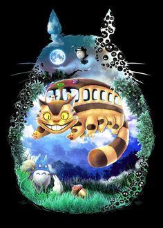 Our+KoLabs+Studios+(artists+J.P.+Perez+and+Barrett+Biggers)+painting+art+tribute+to+Hayao+Miyazaki's+anime+film+Tonari+No+Totoro.