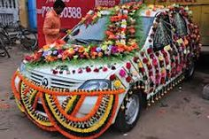 Wedding Car Decorated with flowers. Wedding Car Decorations, Wedding Transportation, Wedding Venues, Wedding Cars, Engagement Couple, Bride, Vikram Kumar, Flowers, Learn Hindi