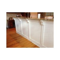 painted bead board bar in kitchen