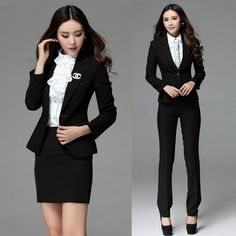 New 2015 Formal Blazer Women Business Suits Formal Office Suits Work Wear Sets  Ladies Professional Office Uniform Designs-in Skirt Suits from Women's Clothing & Accessories on Aliexpress.com | Alibaba Group