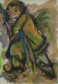 Frans Claerhout - Girl with flowers Art Pictures, Art Pics, Girls With Flowers, South African Artists, Marc Chagall, Beautiful Pictures, Inspiring Art, Artworks, Baskets
