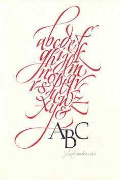 alfabeto minuscole by Luca Barcellona - Calligraphy & Lettering Arts, via Flickr