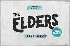 Elders Typeface by giemons™ on @creativemarket
