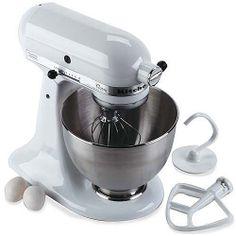 KitchenAid K45SSWH Classic White 4.5-Qt. Stand Mixer - Walmart.com