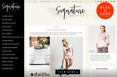 Signature Blogging WordPress Theme by Theme Bullet on Creative Market