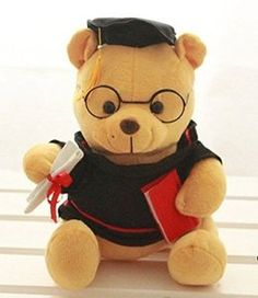 | Graduation Bear w/ Wire Glasses 9 inch | Great for Graduation Celebrations! The Perfect gift to let your child know your proud! Features a Book & Diploma w/ Ribbon Seller Merchant Mike - 30 Days Money Back Satisfaction Guaranteed! #graduation # teddy #bear #toy #academic