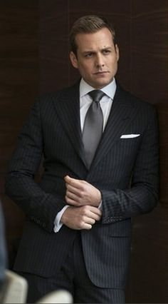 """Black Striped 2 Piece Suit Inspired By Suit Worn By Harvey Specter In  """"Suits"""" Tv Series 4ade51391dcb7"""