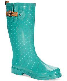 Chooka Women's Classy Dot Rain Boots..definitely on my want list!