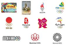 olympic typography thru the years