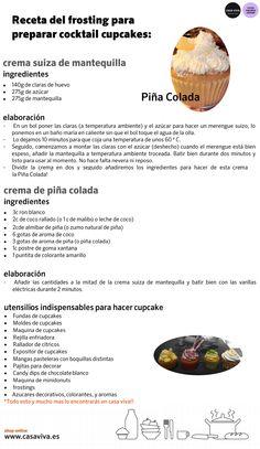 Receta del taller de cocina de Casa Viva: cocktail cupcake de Piña Colada…