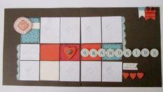 Premade 12x12 Scrapbook Layout GRANDKIDS. $25.00, via Etsy.