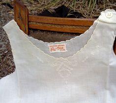 Vintage Baby Dress Slip Embroidered